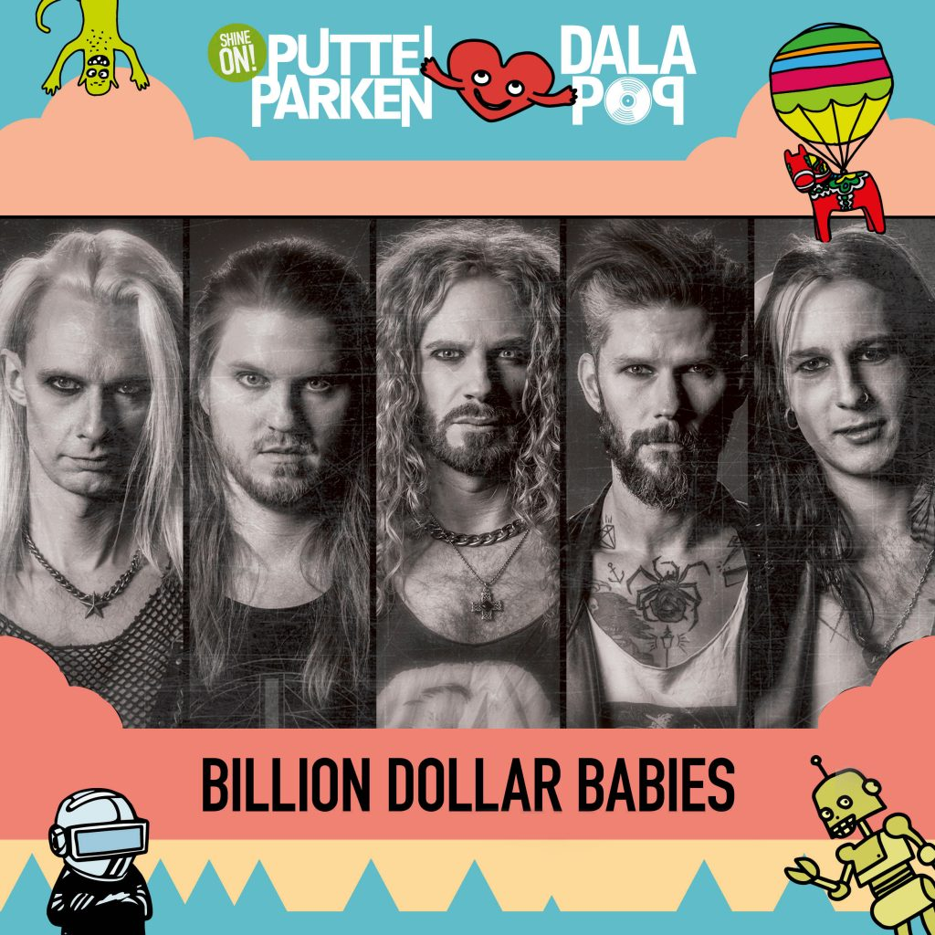 Billion Dollar Babies Putte i Parken festival. Live in Leksand together with Mustasch, Backyard Babies & The Sounds